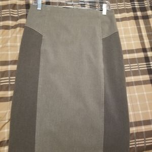 Dark grey fitted pencil skirt